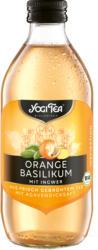 Orange Basilikum Teekaltgetränk
