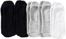 Herren-Füßlinge mit regenerierter Baumwolle, 5er Pack