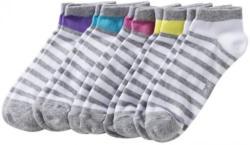 Damen-Sneaker-Socken mit Kontraststreifen, 5er Pack