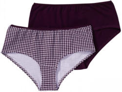 Damen-Panty mit trendigem Muster, 2er Pack