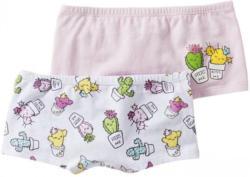 Mädchen-Panty mit Kakteen-Aufdruck, 2er Pack