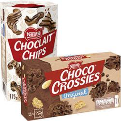 Nestle Choco Crossies oder Choclait Chips versch. Sorten, jede 150/115-g-Packung