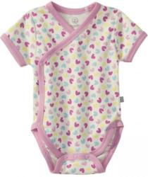 Baby-Mädchen-Wickelbody mit Herzmuster