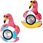 NKD Solar-Flamingo in coolem Design, ca. 12,5x12x15,5cm