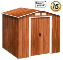 Classic Line Metallgerätehaus Typ B / Haustyp 1A - Farbe: Holzoptik