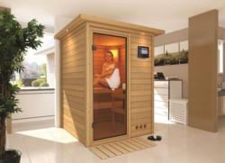 Karibu Sauna Nadja - Ausführung: Dachkranzmodell ,  Ofen: 3,6 kW Bio ,  Steuerung: extern