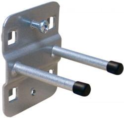 Werkzeughalter, doppelt mit geradem Hakenende - Ausführung: 50 mm,  Farbe: aluminium