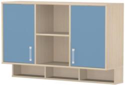 Kinderzimmer - Hängeschrank Benjamin 24, Farbe: Esche / Blau - Abmessungen: 82 x 128 x 37 cm (H x B x T)