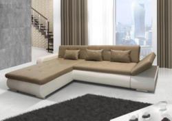 Polstermöbel Jimena mit verstellbare Armlehne und Bettfunktion - Abmessungen: 297 x 199 cm (B x T) - Ottomane: Links