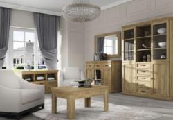 Wohnzimmer Komplett Set A Badile 5 Teilig Farbe Eiche Braun