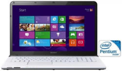 Sony SVE1713D1EW Notebook, 43,8 cm (17,3 Zoll), Intel Pentium, 500 GB SATA, 4 GB DDR3 RAM