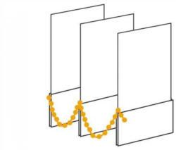 Vertikal-Lamellen-Vorhang, Sunlines, nach Maß, mit Verbindungsketten
