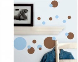 Wandsticker, RoomMates for Kids, »Dots Blue & Brown«