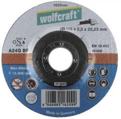 Wolfcraft Metall-Trennscheiben - Durchmesser: 115 mm, Scheibendicke: 2,5 mm, Ausführung: gekröpft, Lieferumfang: 1 Stück - SSV: Nur solange Vorrat reicht!