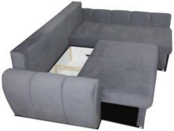 Polstermöbel Santino mit Staukasten und Bettfunktion - Abmessungen: 247 x 197 cm (B x T) - Ottomane: Rechts
