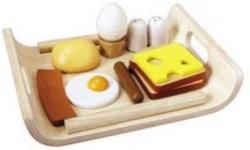 Spiel-Set: Frühstück mit Servierbrett aus Holz, PlanToys® (12tlg.)
