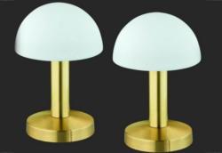 SET: Tischlampen-Set, 2 Stück, messingfarben-weiß, Trio