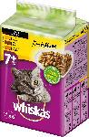 dm-drogerie markt Whiskas Nassfutter für Katzen, Senior 7+, Fresh Menue in Sauce, mit Huhn, Truthahn & Geflügel, 6x50g