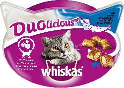Whiskas Snack für Katzen, Knuspertaschen, Duolicious mit Lachs & Joghurt