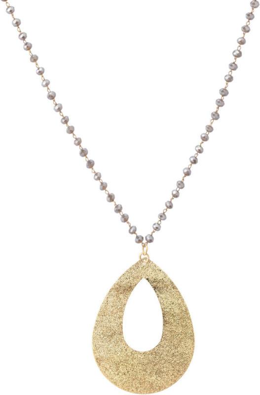 Lange Damen Kette mit Perlen