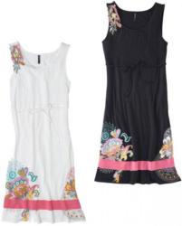 Damen-Kleid mit harmonischem Motiv