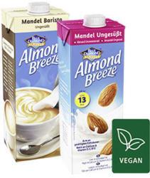 Blue Diamond Almond Breeze Original oder Barista und weitere Sorten, jede 1-Liter-Packung