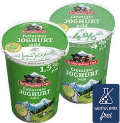 Berchtesgadener Land Joghurt 0,7/1,5/4,0 % Fett, jeder 500-g-Becher