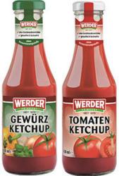 Werder Ketchup versch. Sorten, jede 450-ml-Flasche