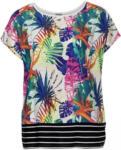 NKD Damen-T-Shirt mit gestreiftem Saum, große Größen