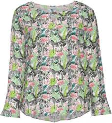 Damen-Bluse mit Tropfen-Ausschnitt, große Größen