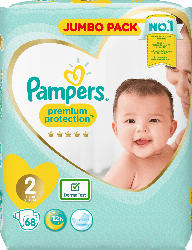 Pampers Windeln premium protection New Baby, Größe 2 Mini, 4-8 kg, Jumbo Pack