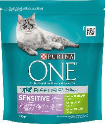 PURINA ONE Trockenfutter für Katzen, Sensitive reich an Truthahn und Reis