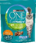 dm-drogerie markt PURINA ONE Trockenfutter für Katzen, Dual Nature mit Spirulina für ausgewachsene Katzen reich an Huhn