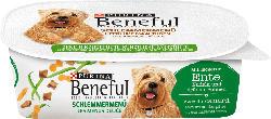 Beneful Nassfutter für Hunde, Schlemmermenü mit Ente, Pasta und grünen Bohnen