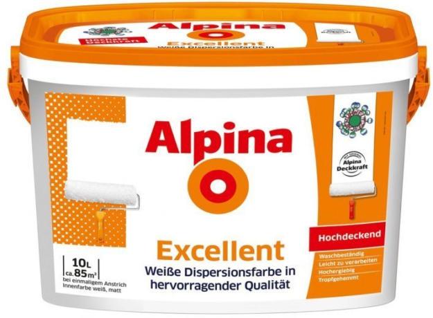 """wogibtswas.at - wand- und deckenfarbe alpina """"excellent"""" €"""