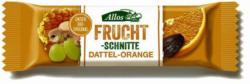 Fruchtschnitte Dattel Orange