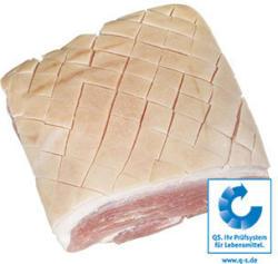 Frischer Schinkenkrustenbraten vom Schwein, mit Knochen, Speck und Kruste,  je 1 kg