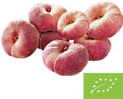 """Spanien Pfirsiche """"Paraguayos"""", Kennzeichung siehe Etikett, jede 500-g-Schale"""