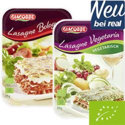 Bio Lasagne Vegetaria oder Bolognese gefroren, jede 375-g-Packung