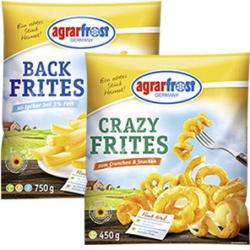 Agrarfrost Backfrites oder Crazy Frites gefroren, jeder 450/750-g-Beutel und weitere Sorten