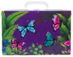 LIBRO Handarbeitskoffer - Schmetterling, lila