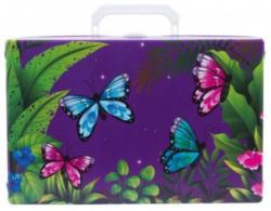 Handarbeitskoffer - Schmetterling, lila