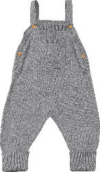 ALANA Baby-Latzhose, Gr. 56, in Bio-Baumwolle, grau, für Mädchen und Jungen