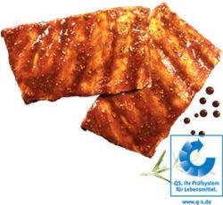 Frische Spareribs vom Schwein, natur oder mariniert, je 1 kg