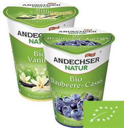 Andechser Natur Bio Fruchtjogurt versch. Sorten, jeder 400-g-Becher