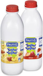 Fruttis Yogho!Yogho! Erdbeer oder Pfirsich, jede 1000-g-Flasche