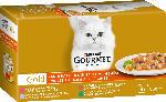 dm-drogerie markt GOURMET Nassfutter für Katzen, Gold Zarte Häppchen mit Gemüse, Multipack 4x85g