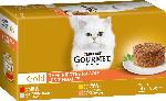 dm-drogerie markt GOURMET Nassfutter für Katzen, Gold Raffiniertes Ragout mit Huhn, Multipack