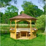 BayWa Bau- & Gartenmärkte Pavillon Palma, mit Bitumenschindeldach & Möbeln
