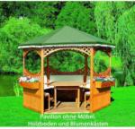 HELLWEG Baumarkt Pavillon Palma, mit grünem Foliendach